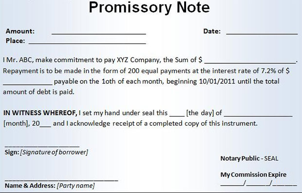 Promissory Notes. Preview Assignment Of Promissory Note Free ...